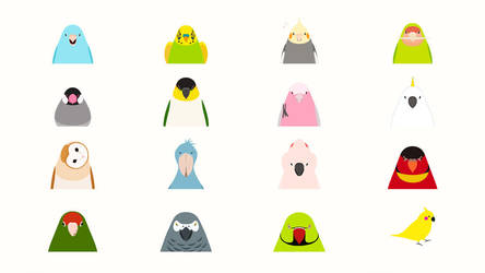 Animated Bird Stickers - tori no iro for iMessage by birnimal