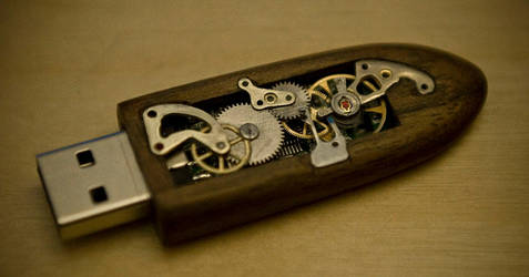 Mechanical Memory Key by back2root