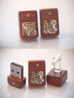 8GB USB Cufflinks - Paduak by back2root