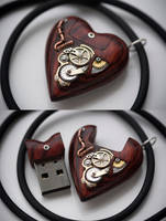 32GB USB Steampunk Heart by back2root