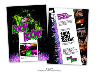 Boom Room Events Flyer by ALTereg0