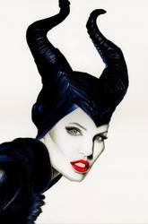 Angelina Jolie as Maleficent (Disney) by Fabielove