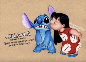 Lilo and Stitch - Ohana by Fabielove