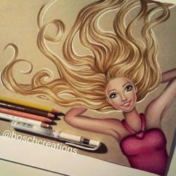 Barbie - drawing by Fabielove