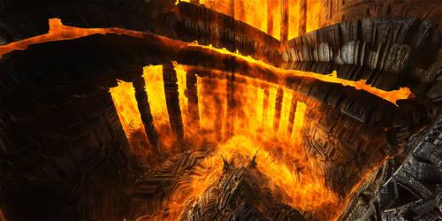 Burning place by KPEKEP