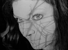 In the shadows -Portrait - drawing by CorinnaMariaArt