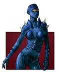 Blue Cyborg by LukeDenby