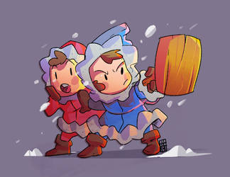 Ice Climbers Popo and Nana by malatrova1