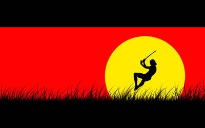 Sun Samurai Jump by kellydewinter