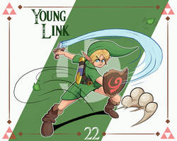 Smash Ultimate #22: Young Link by Andy-roo78
