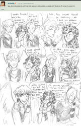 Gabriel about prettiest being (Ask My OCs #34) by thebadgerfoxdraws