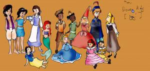 Disney Kids Part II by theghostlyartist