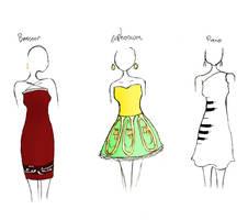Band Geek Prom Dresses 4 by theghostlyartist