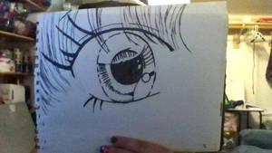 Manga Girl Eye (Inked) by iamanimegirl12