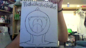 WhatTheHeck?! (aka. Laughing Guy) Inked by iamanimegirl12