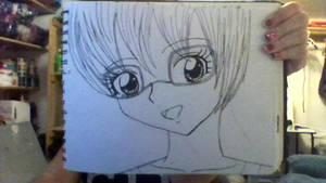 Manga Girl Face (Inked) by iamanimegirl12