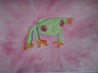 Red-Eye Tree Frog by iamanimegirl12