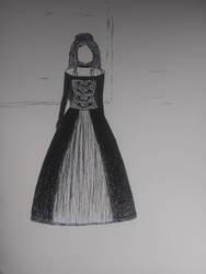Elegance Pen Drawing (unfinished) by iamanimegirl12