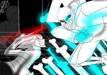 Sans vs frisk by blacktiger273