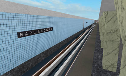 Building Varshavskaya station on ROBLOX (1) by Moscow1234
