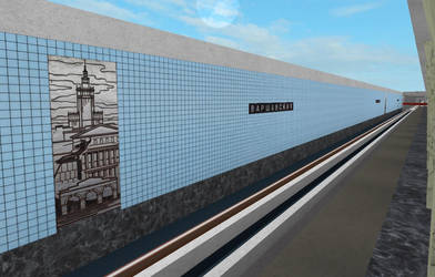 Building Varshavskaya station on ROBLOX (2) by Moscow1234
