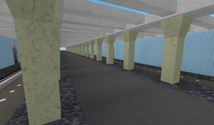 Building Varshavskaya station on ROBLOX (3) by Moscow1234