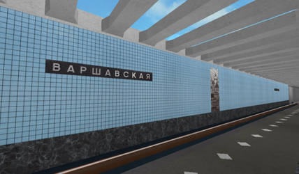 Building Varshavskaya station on ROBLOX (4) by Moscow1234
