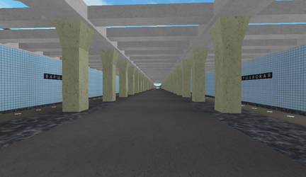 Building Varshavskaya station on ROBLOX (5) by Moscow1234