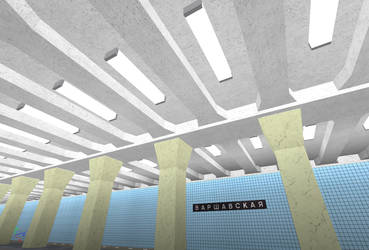 Building Varshavskaya station on ROBLOX (7) by Moscow1234