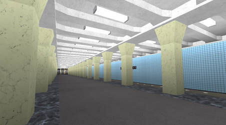 Varshavskaya station on ROBLOX (Completed) by Moscow1234