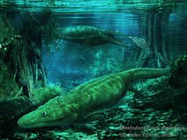 Mastodonsaurus by AnthodonKR