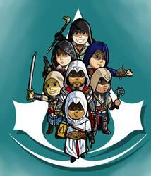 Chibi Assassins by poncheetos