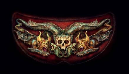 Skull and Beasts Ornament by DagmarReneeRITTER