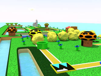 Super Mario 3 World 4 map by Doseku
