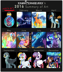 2016 Summary of Art by xXWhiteAngelsXx