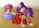 Shantae - Professional Shake Charmer by Redblaze27