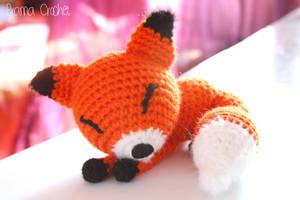 Little Fox crochet amigurumi doll plush by BramaCrochet