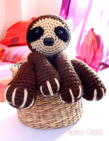 Sloth crochet amigurumi doll plush by BramaCrochet