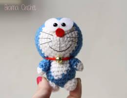 Tiny Doraemon - Amigurumi crochet doll plush by BramaCrochet