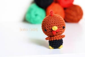 Rooster Kawaii Amigurumi doll - Handmade Crochet t by BramaCrochet