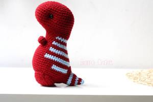 T-Rex Dinosaur Kawaii Amigurumi crochet doll by BramaCrochet