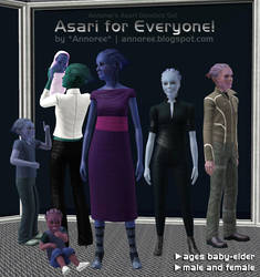 Asari Set for Sims 3 by arido-X