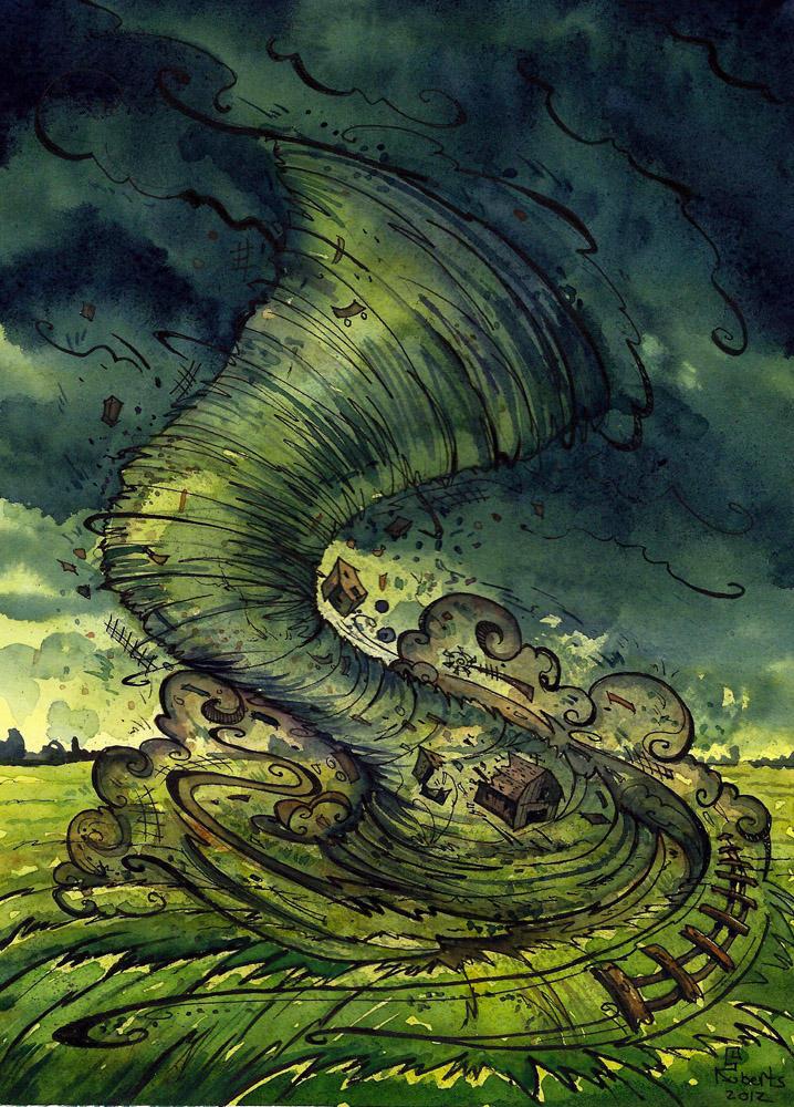 Dorothy's Tornado by CorinneRoberts