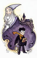 Harry Potter and Dumbledore by CorinneRoberts