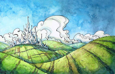 Fantasy Field Sketch by CorinneRoberts