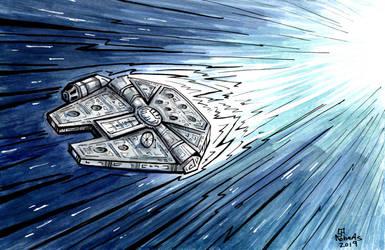 Millennium Falcon by CorinneRoberts