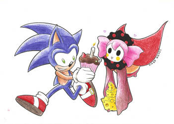 Sonic and Charlotte party by Neves7seven