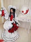 Yuuko ichihara : rose garden 01: by Moon-Pie-Panda