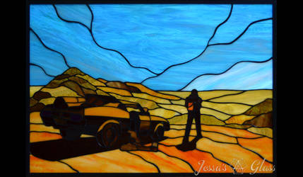 Mad Max What A Lovely Day Stained Glass Window by JessasGlass