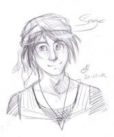 Chrono Cross Serge Sketch by Saimiri